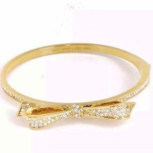 KATE SPADE Love Notes Pave Bow Bangle Bracelet